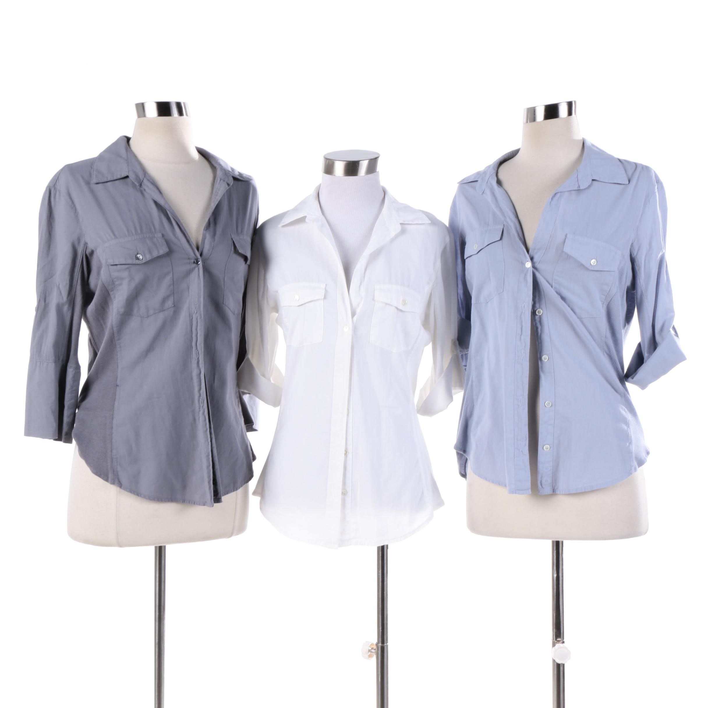 Women's Standard James Perse Cotton Button-Front Shirts