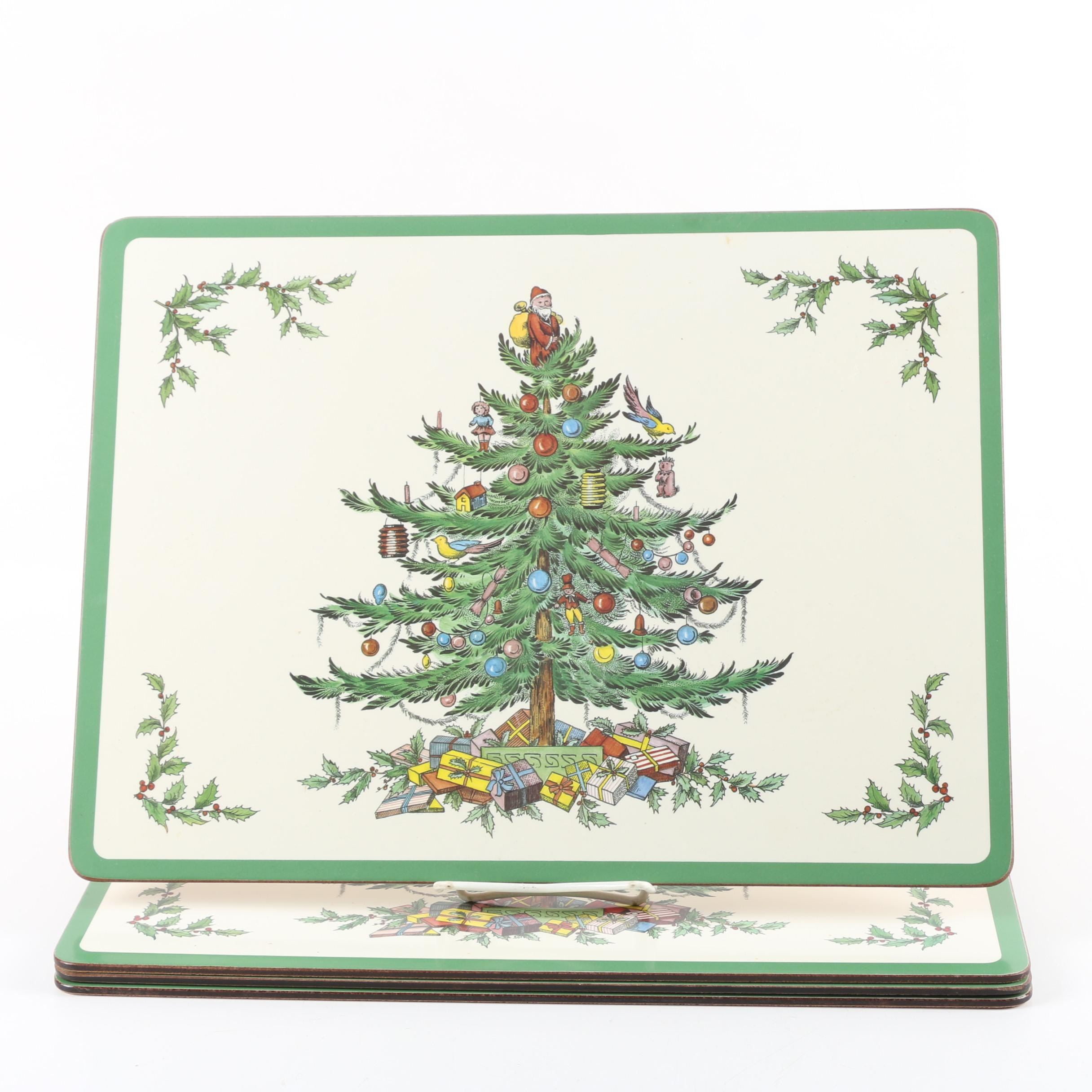"""Pimpernel """"Christmas Tree"""" Cork Backed Placemats"""