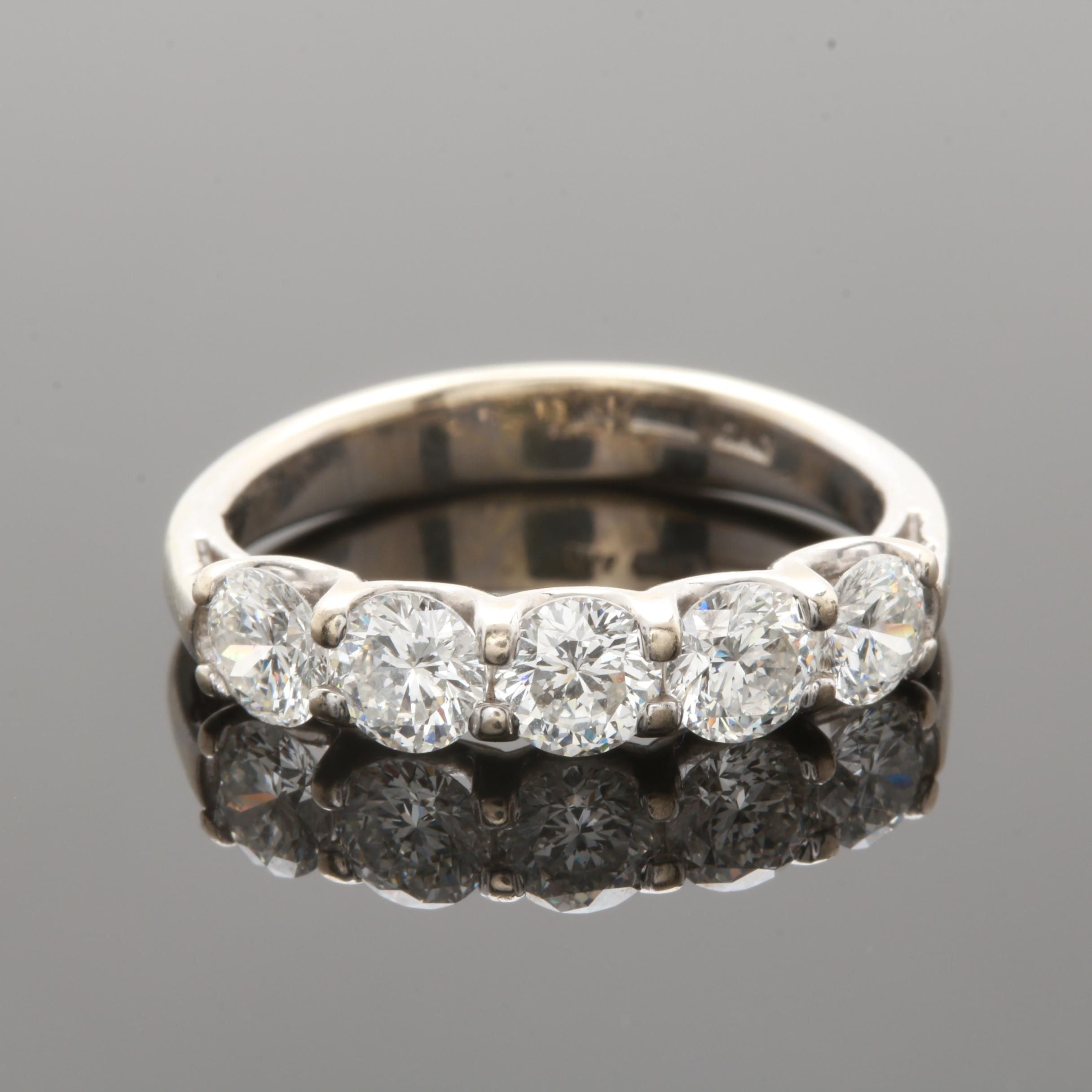 Roberto Coin 18K White Gold 1.28 CTW Diamond Ring with GIA Laser Inscriptions