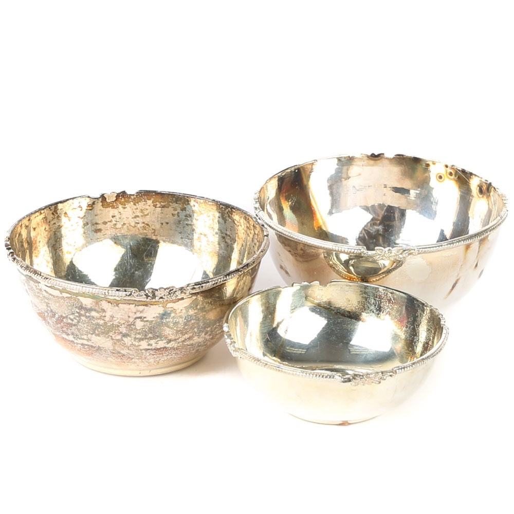 Indian Sterling Silver Candy Bowls