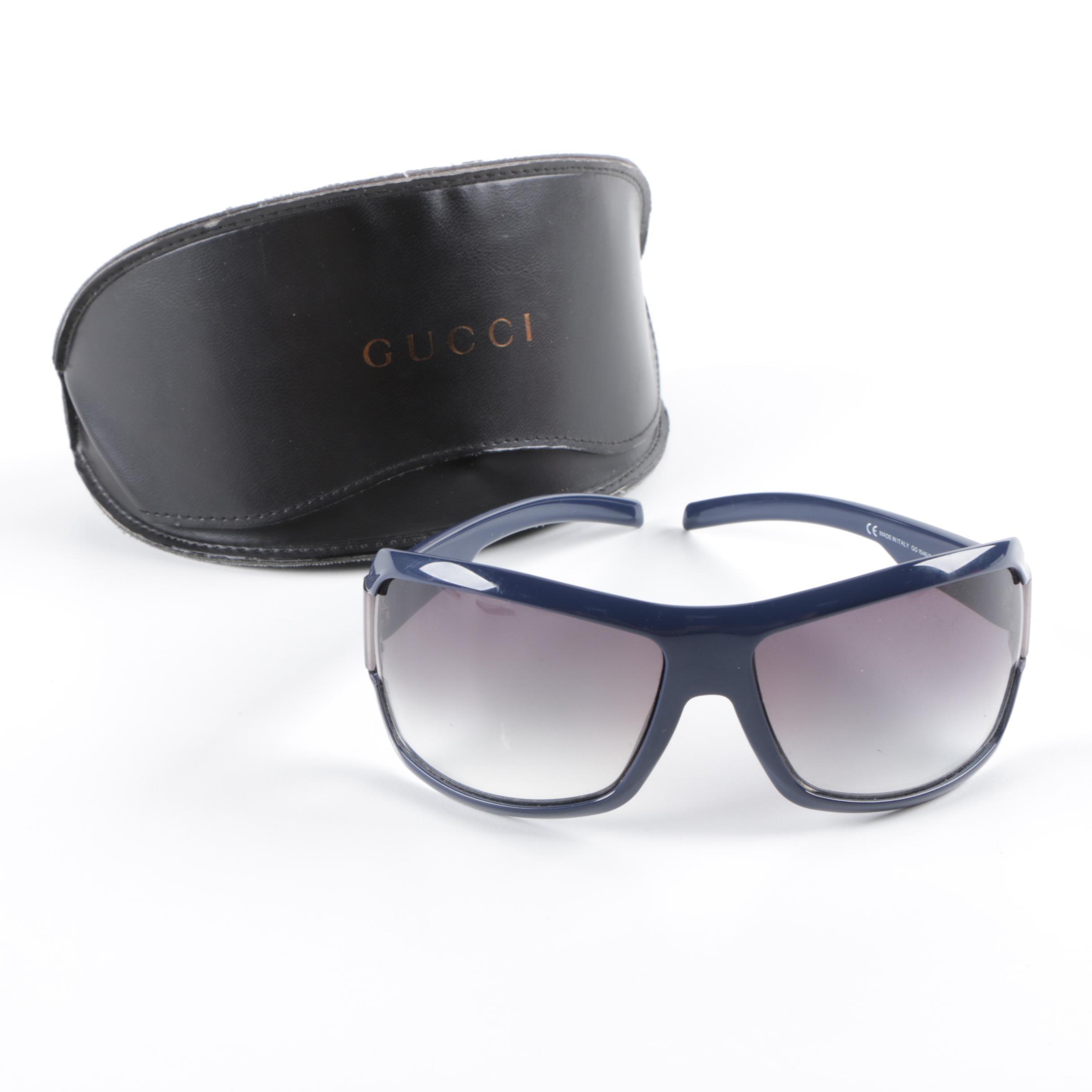 Gucci GG 1546/S Blue Wrap Sunglasses with Case