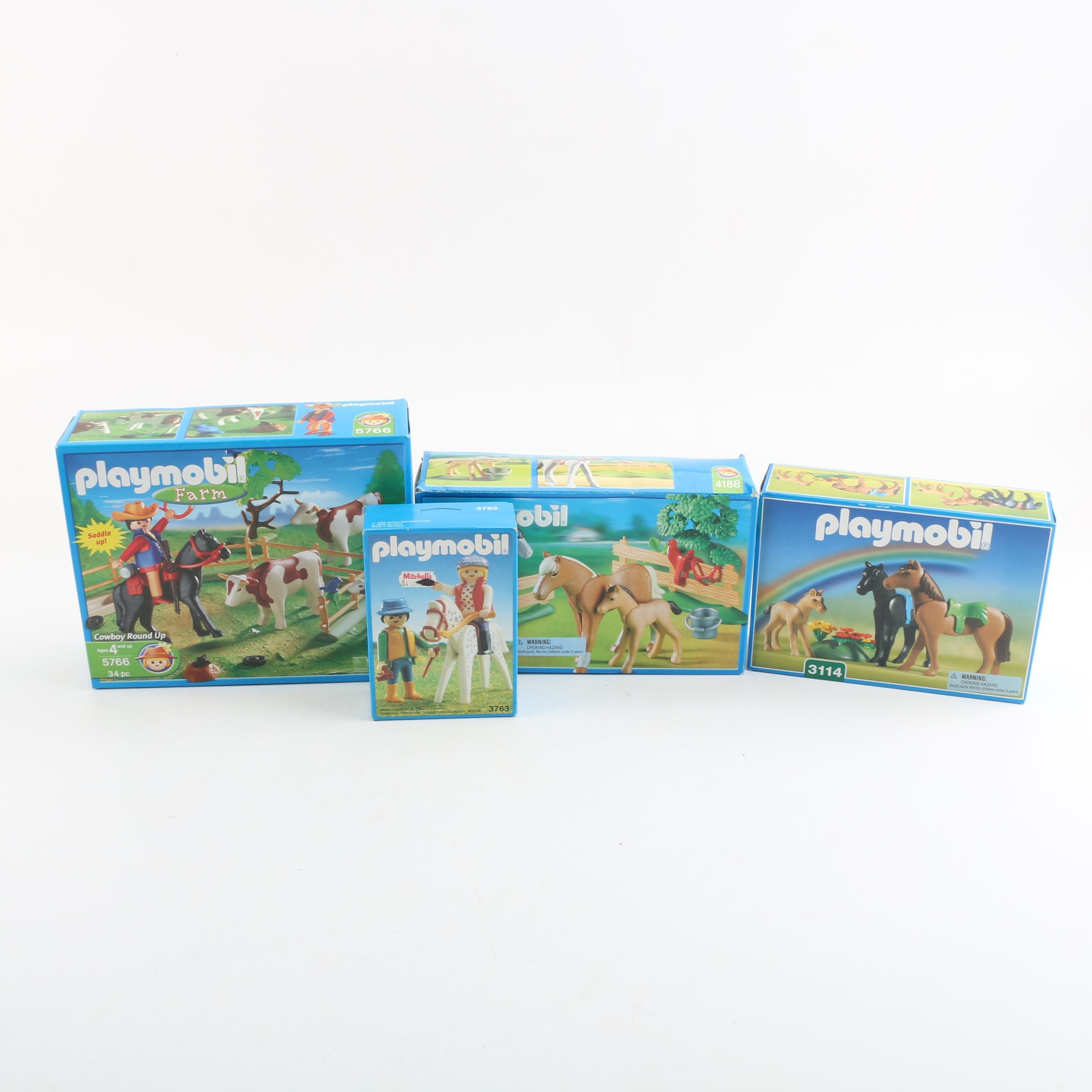 Playmobil Horse and Farm Play Sets and Figures