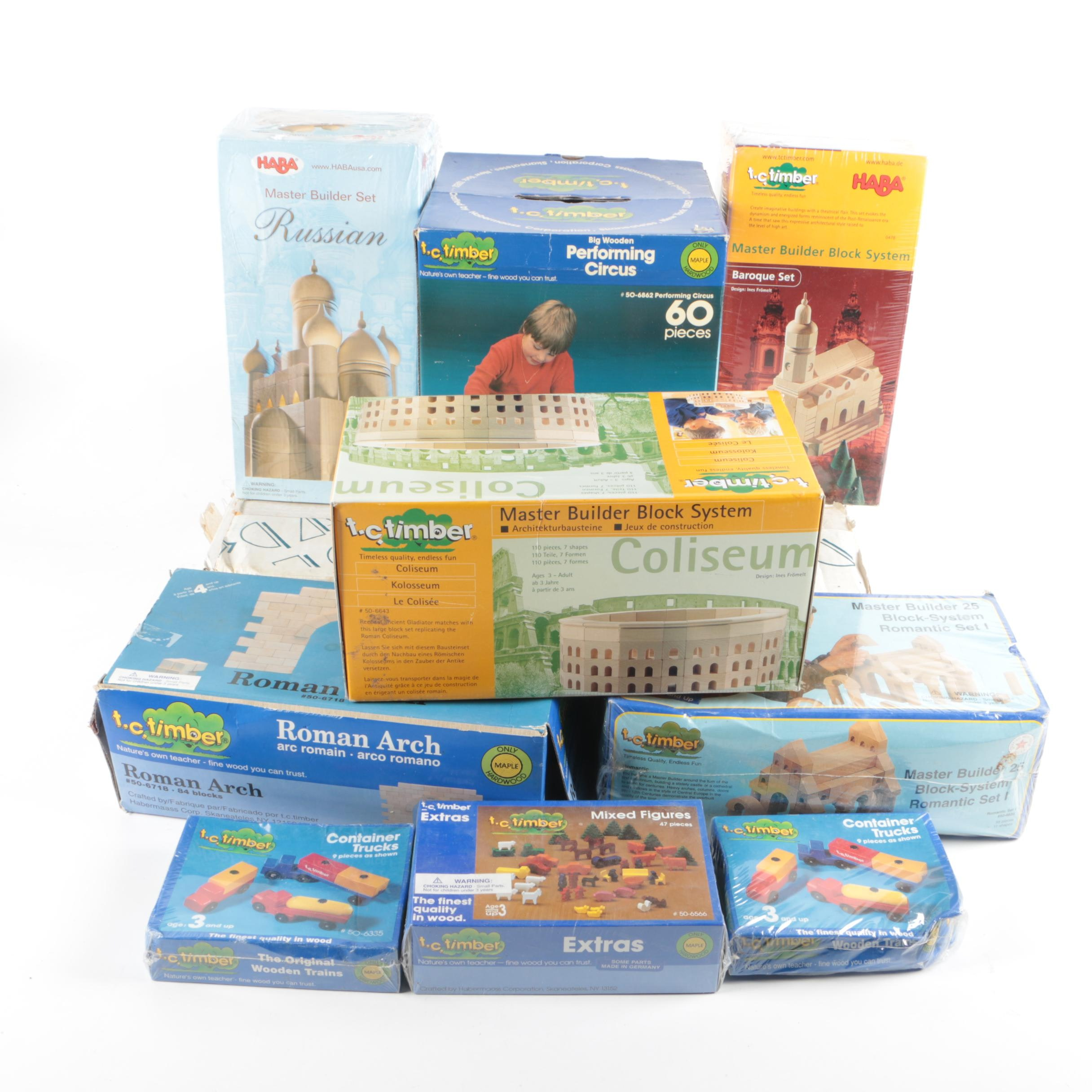 Building Block Toys, Including HABA and T.C. Timber