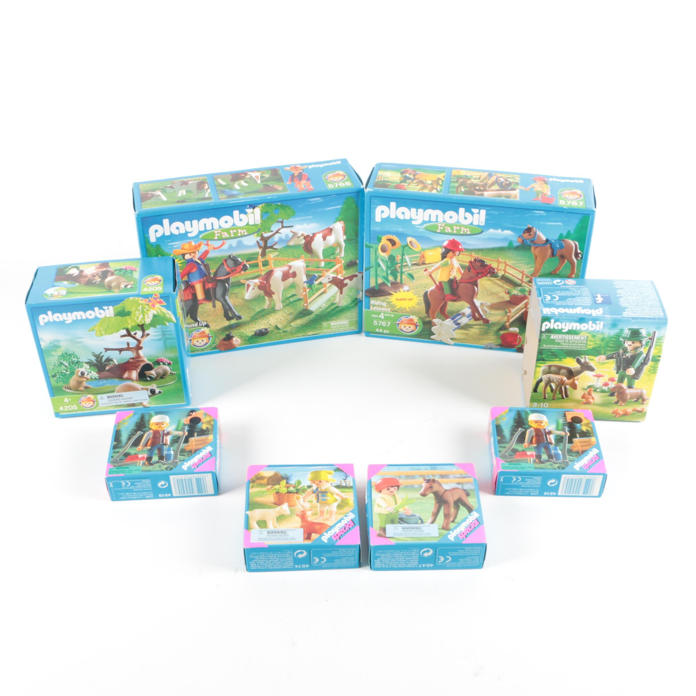 Playmobil Farm and Wildlife Themed Play Sets