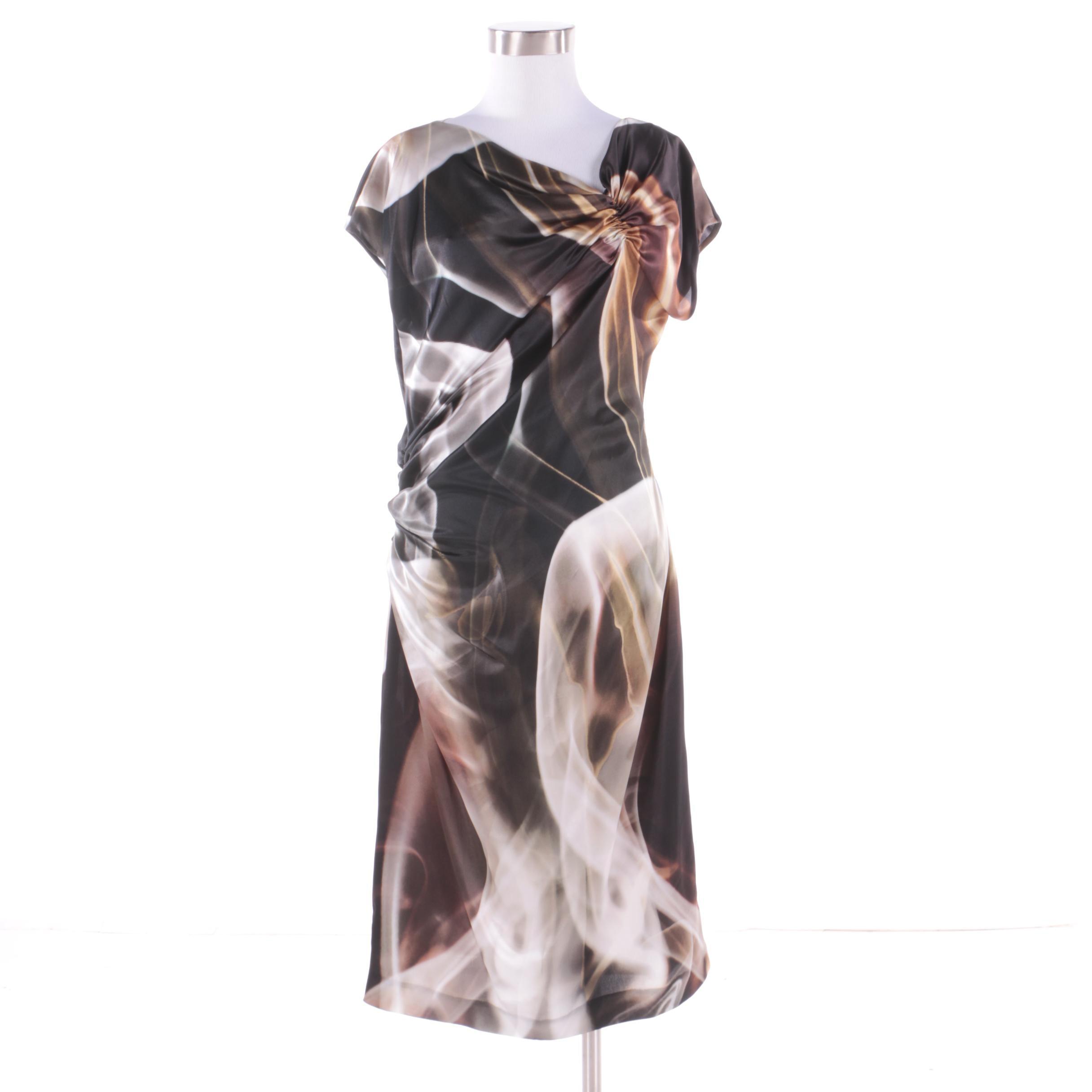 Escada Ruched Silk Dress