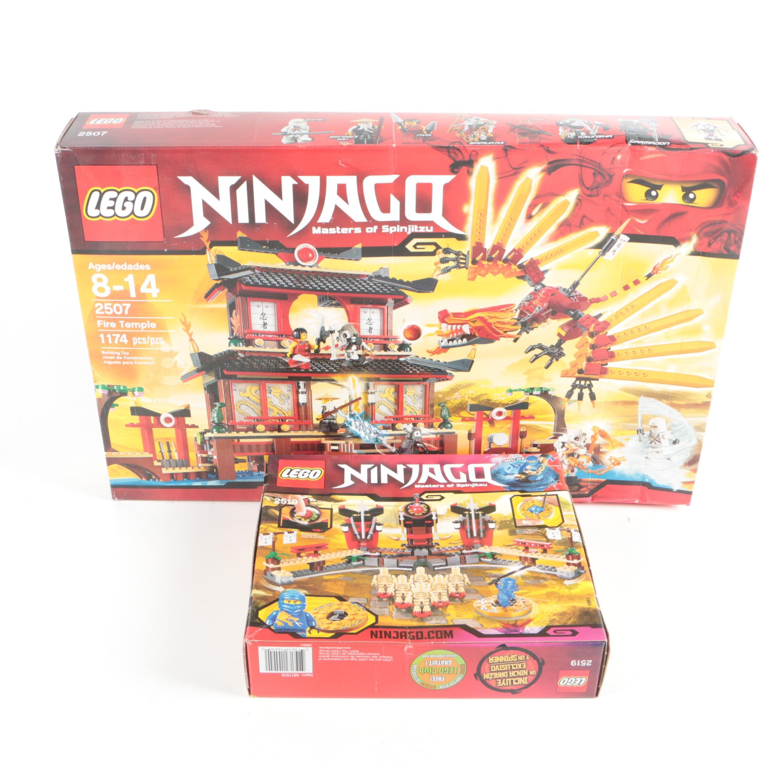 "Lego ""Ninjago"" Fire Temple and Character Sets"
