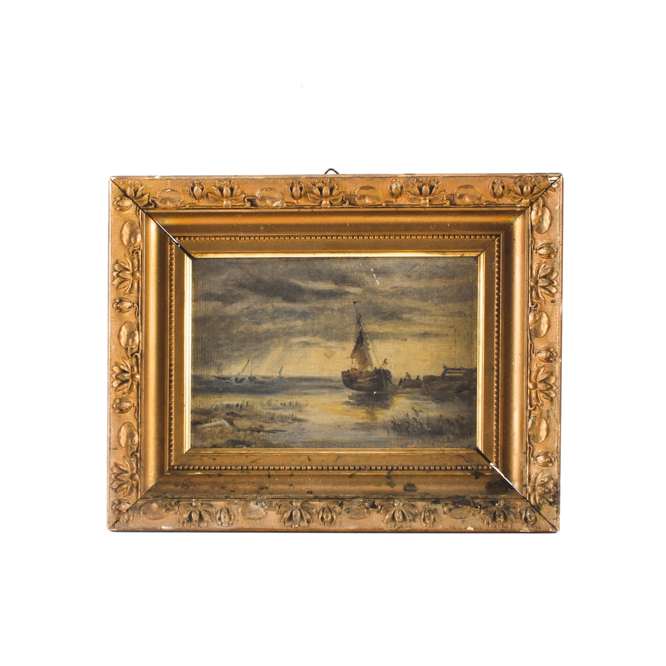 Oil Painting of a Sailboat