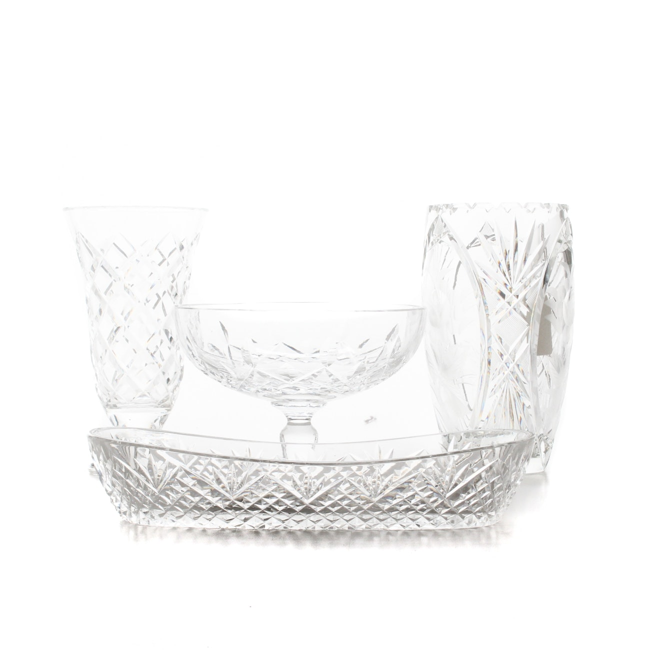 Waterford Crystal Decor with a Wheel Cut Glass Vase