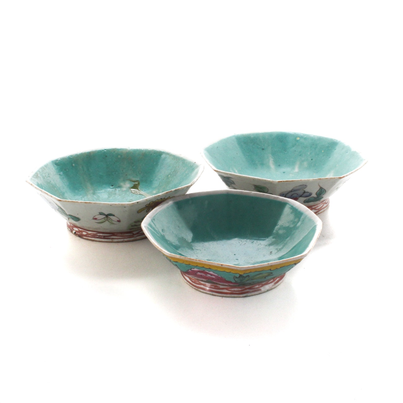 Antique Hand-Painted Chinese Porcelain Bowls