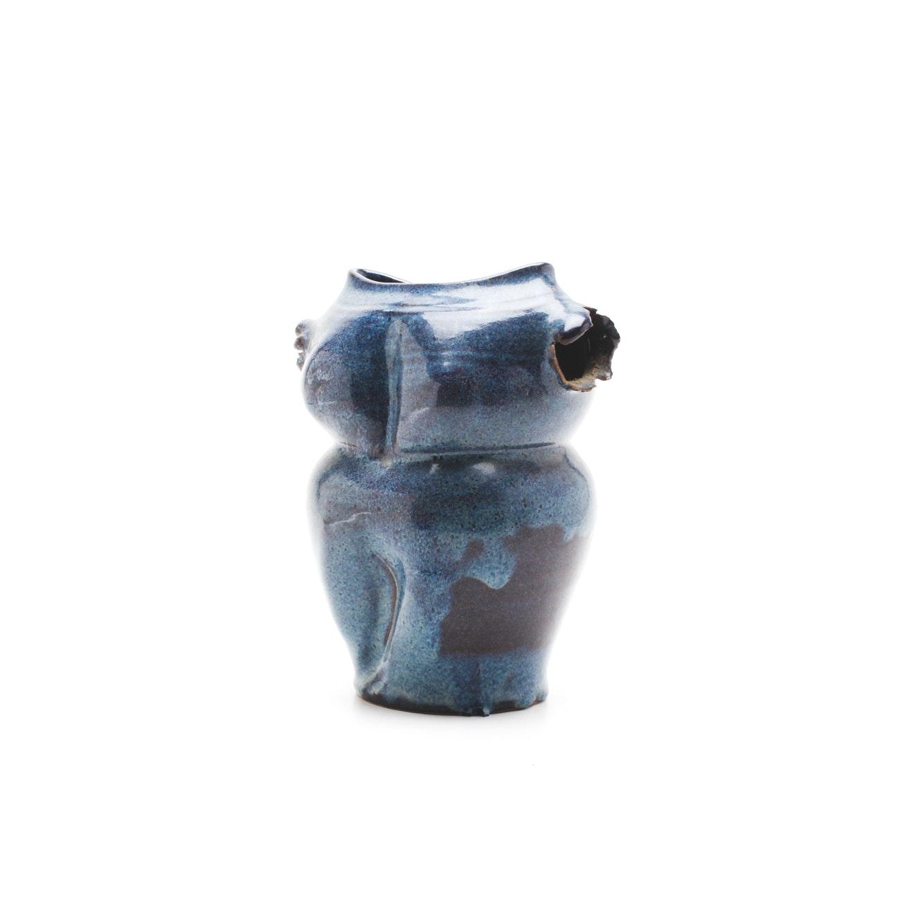 Signed Art Pottery Sculptural Vase