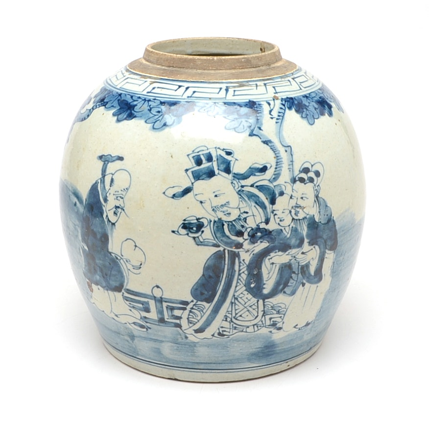 Chinese Hand-Decorated Ceramic Vase