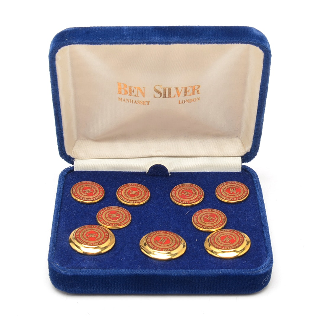 Iowa State University Science and Technology Commemorative Brass Blazer Buttons