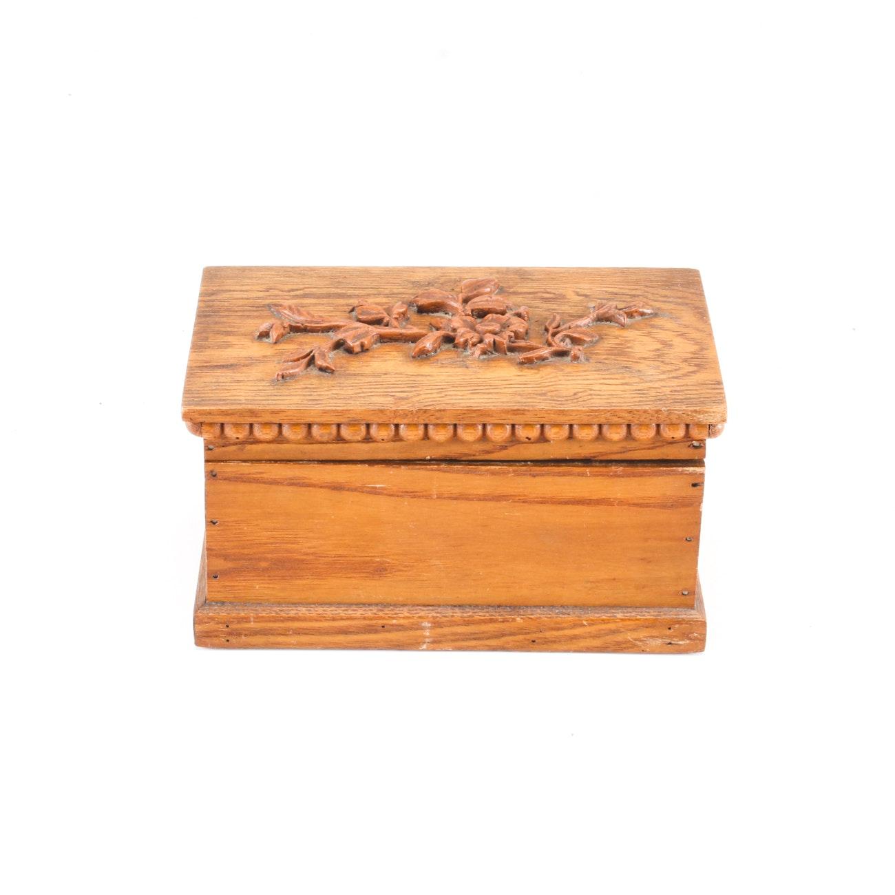 Decorative Wood Trinket Box