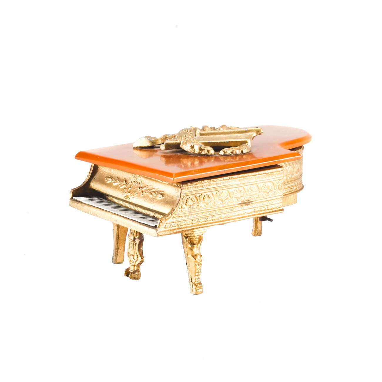 Thoren's Style Metal Piano Shaped Music Box