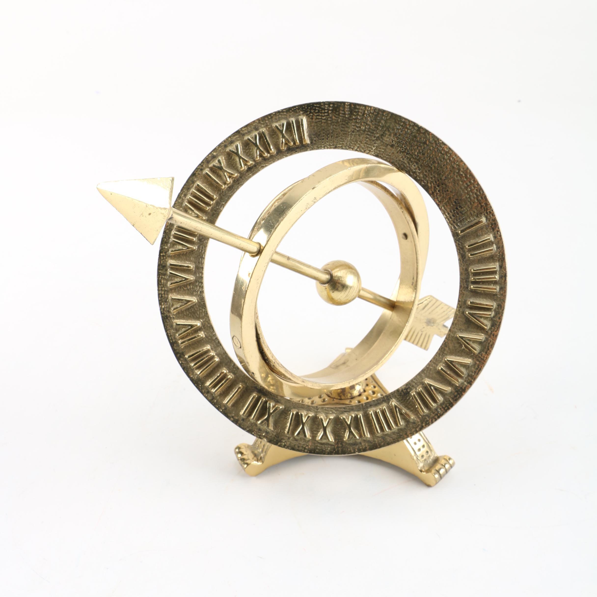 Large Brass Sundial