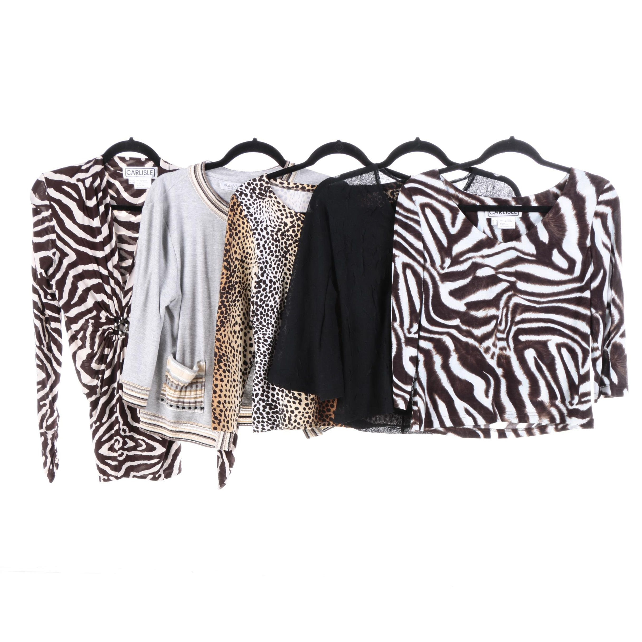 Women's Animal Print Shirts and Cardigan