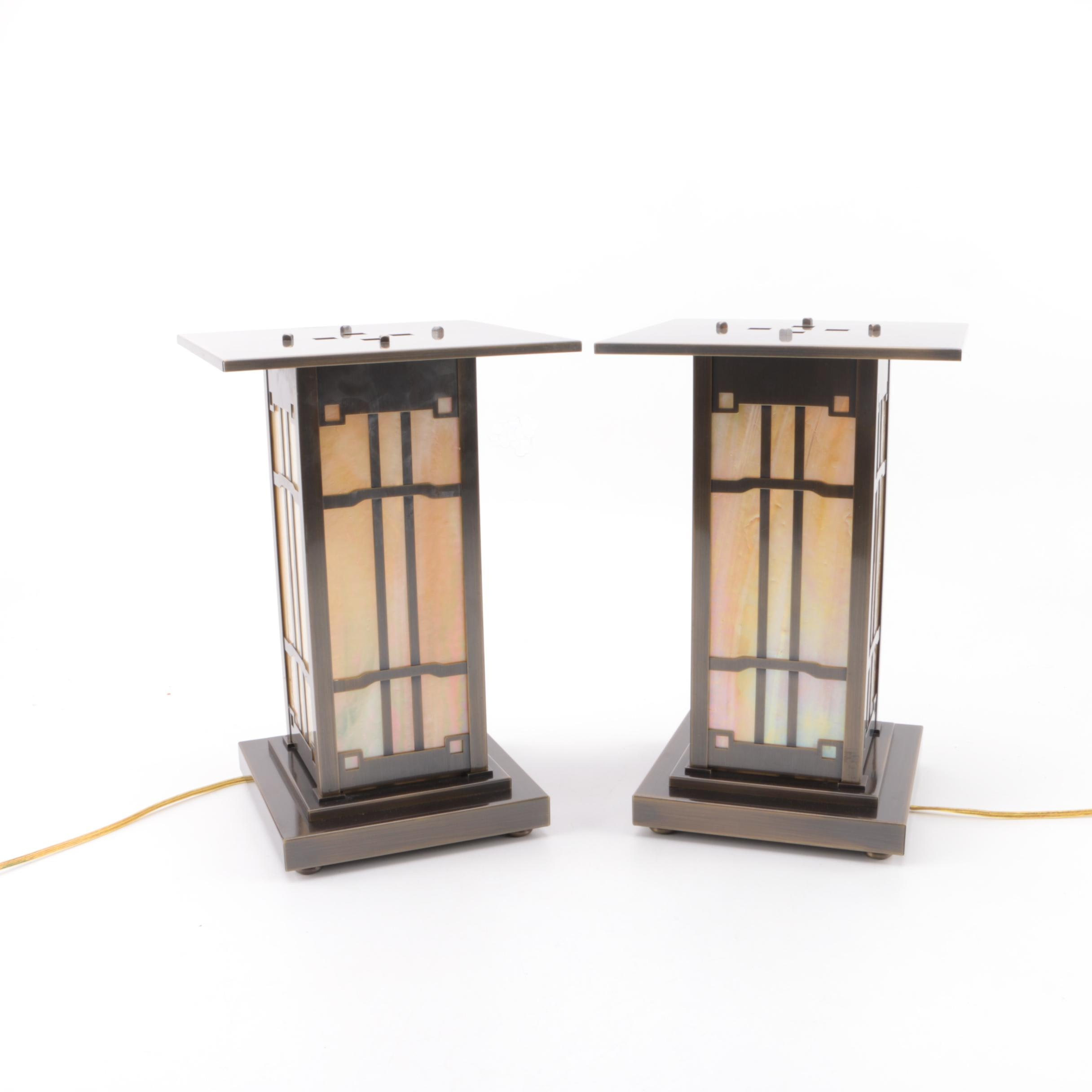 Mission Style Lantern Table Lamps by Arroyo Craftsman
