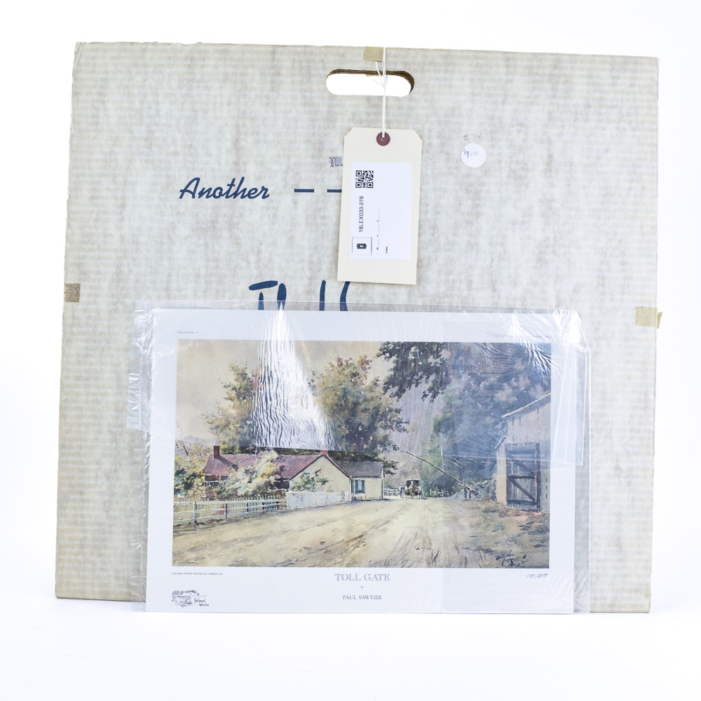 "Paul Sawyier Limited Edition Offset Lithograph ""Toll Gate"""