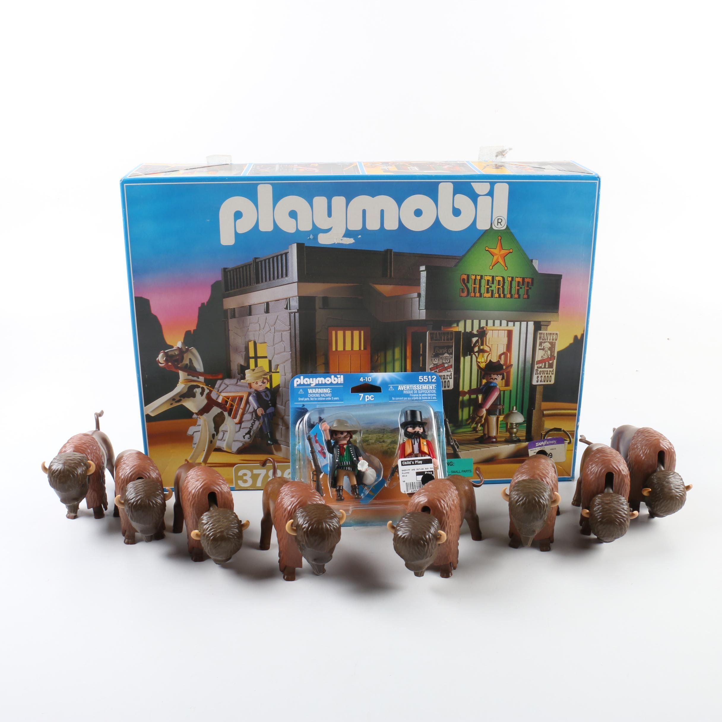 Playmobil Western Themed Sets and Bison