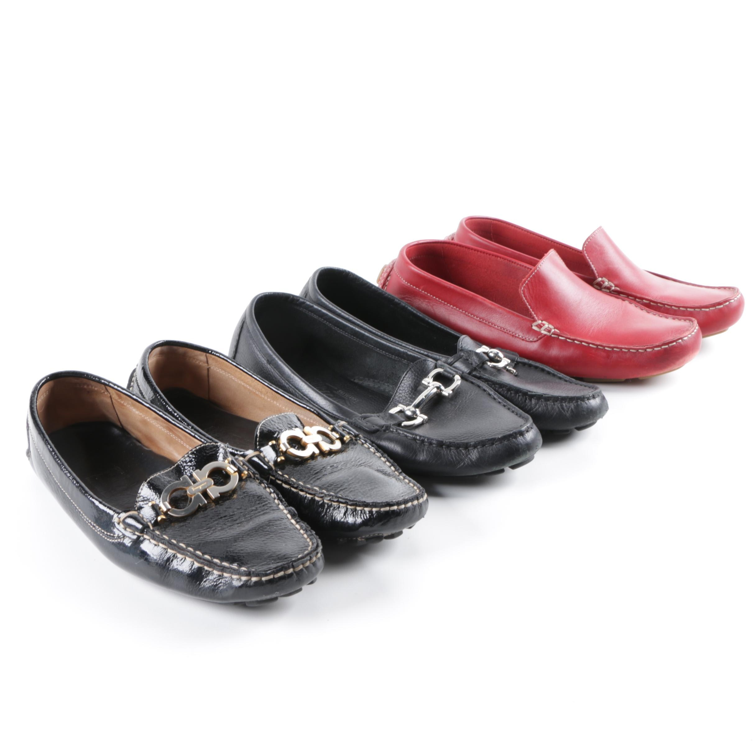 Women's Leather Loafers Including Salvatore Ferragamo