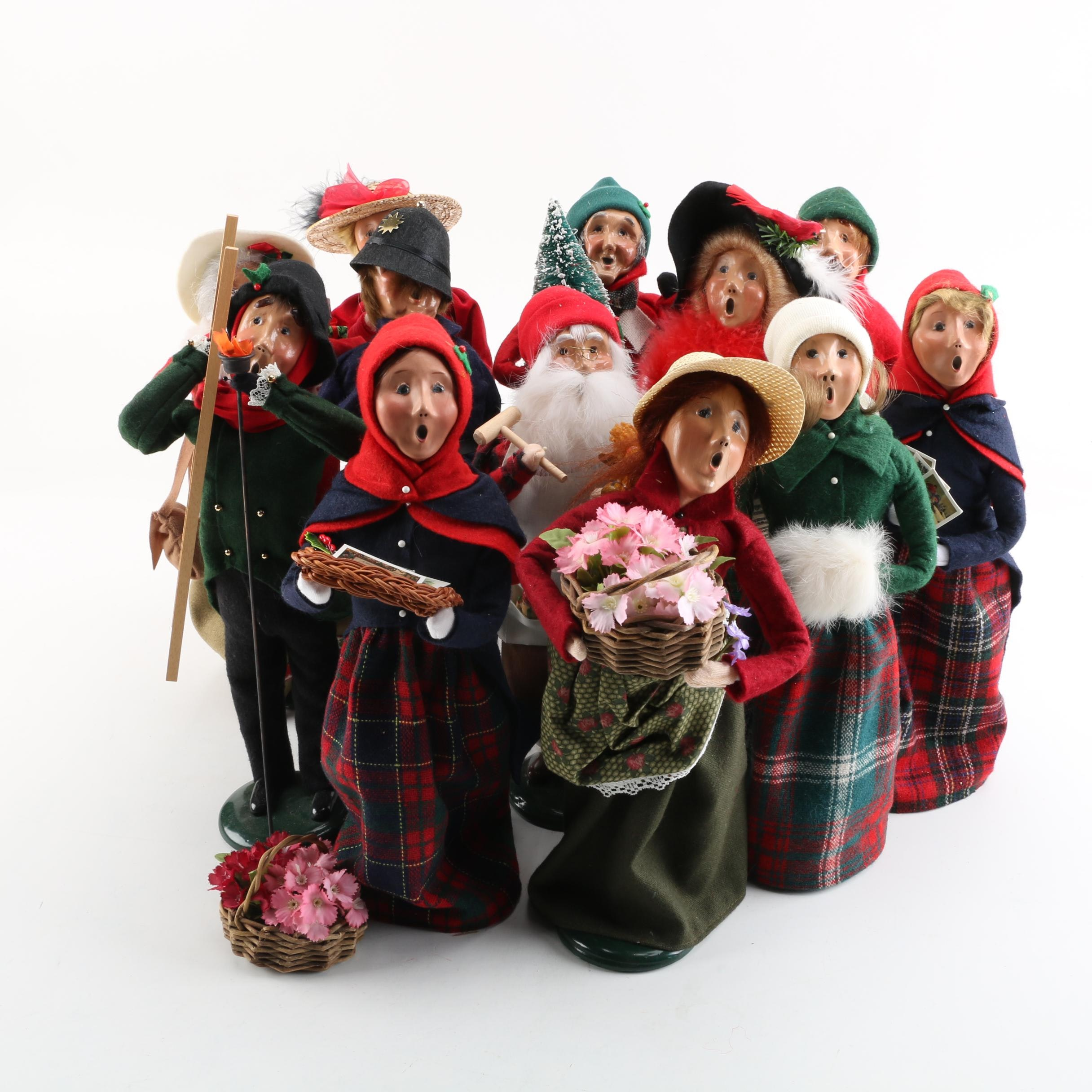 Assorted Byers' Choice Christmas Carolers