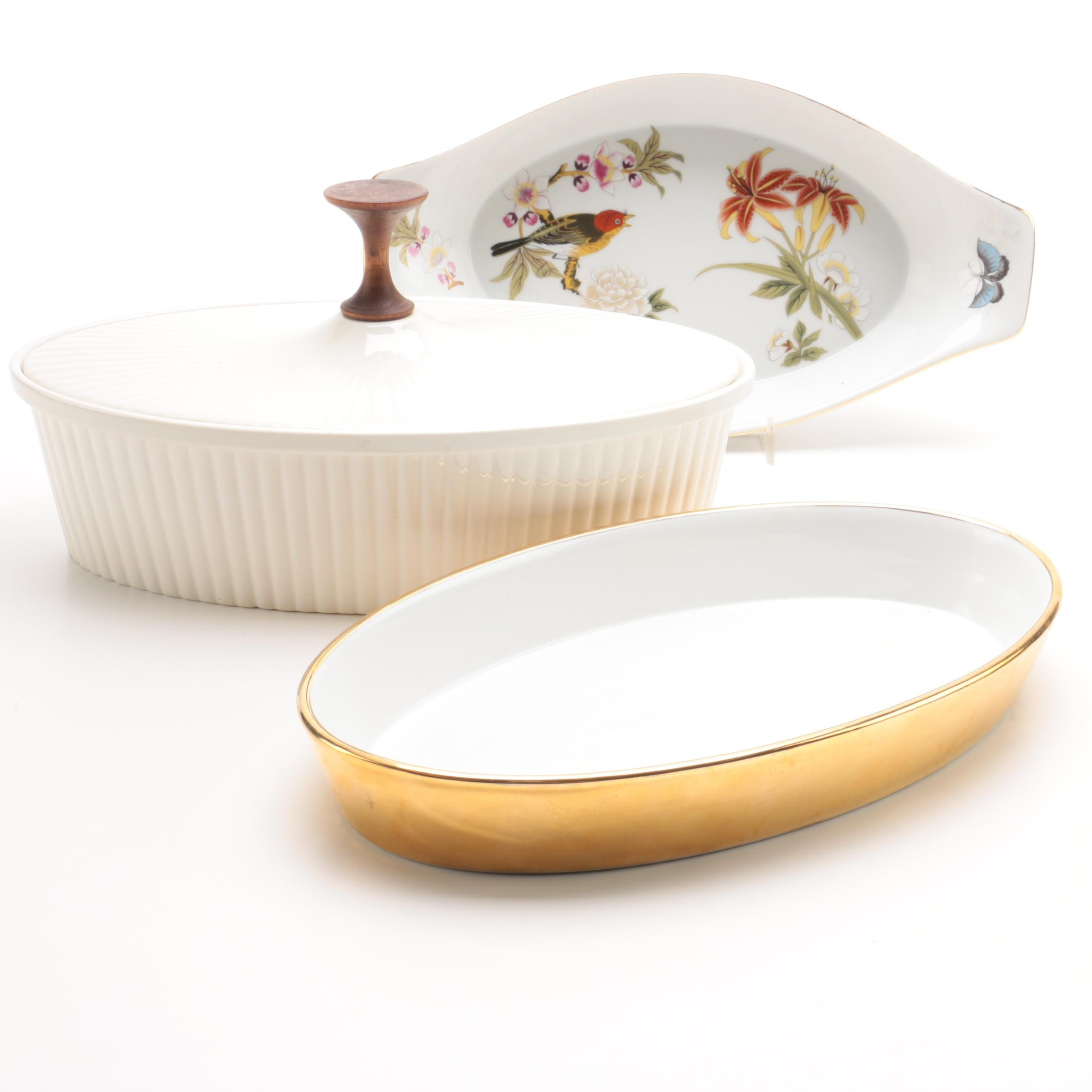Ceramic Baking Dishes Including Royal Worcester