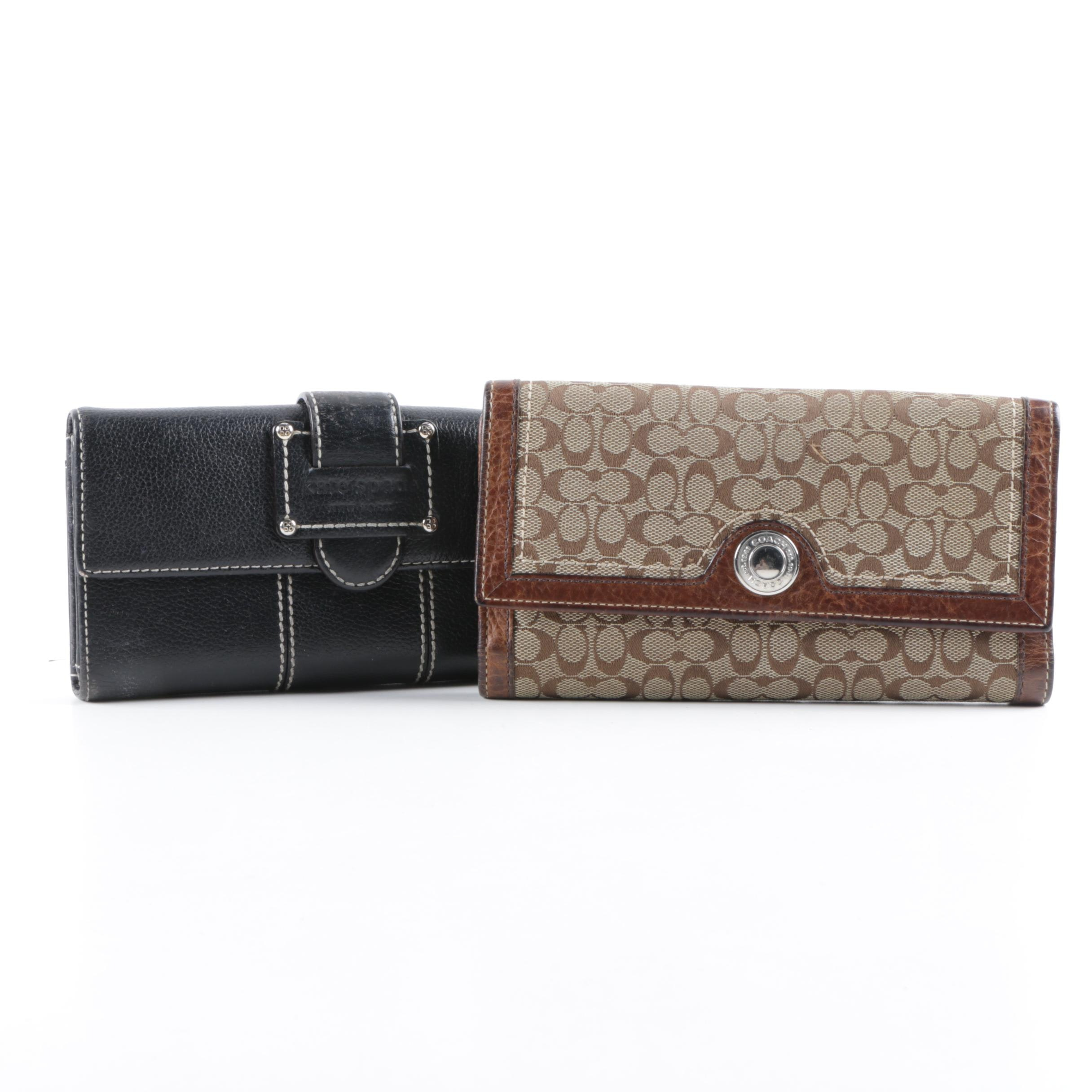 Coach and Kate Spade New York Wallets