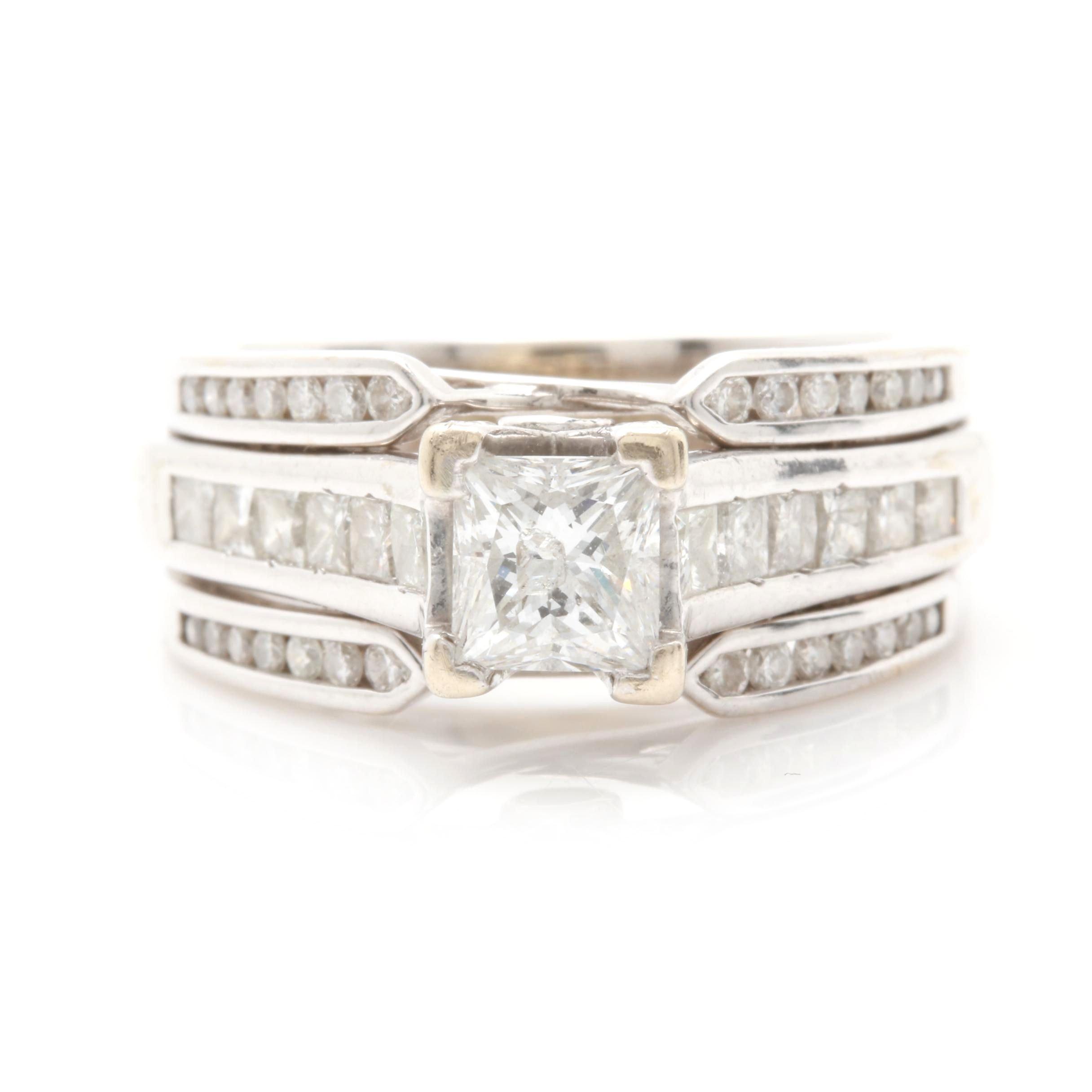 14K and 18K White Gold 1.20 CTW Diamond Ring