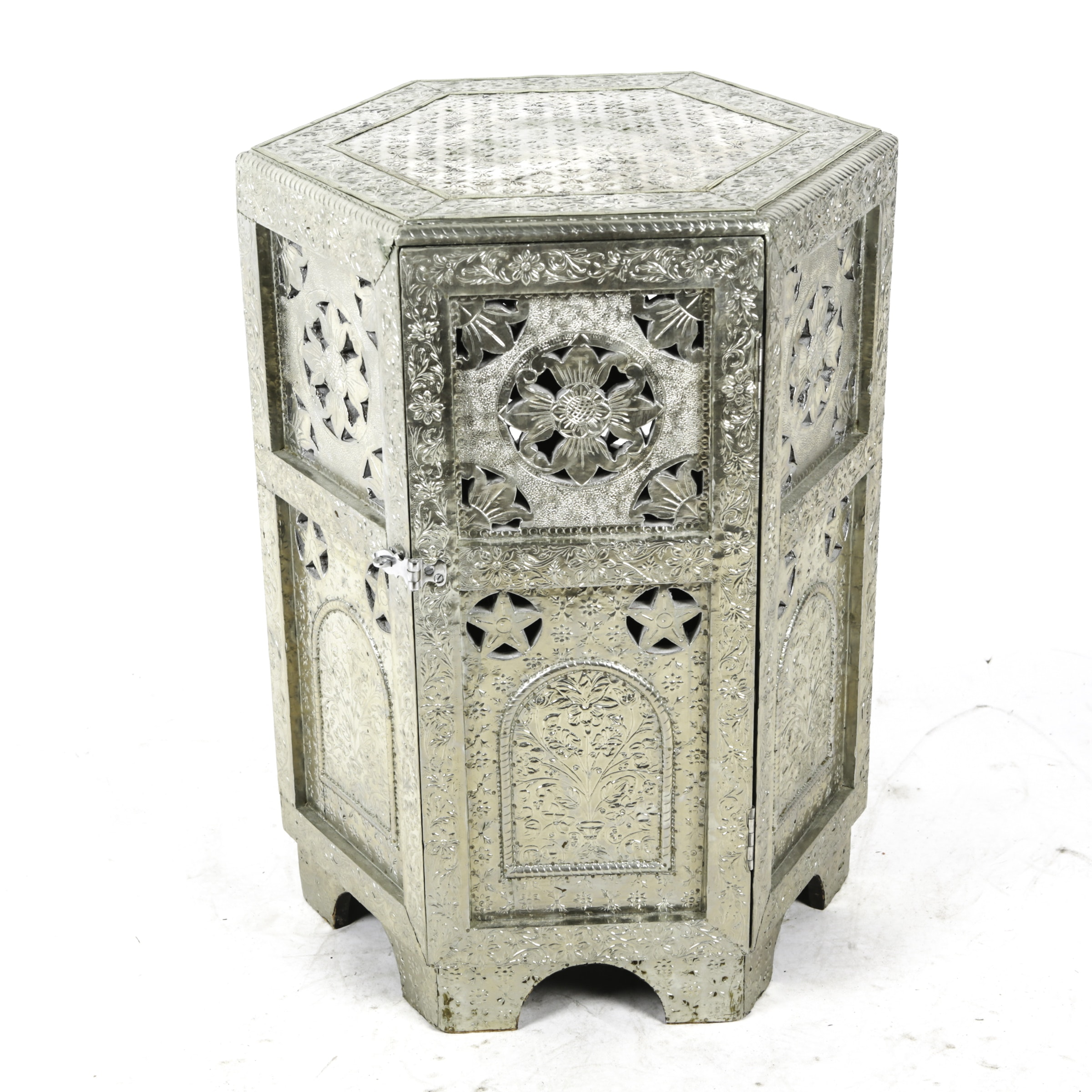 Middle Eastern Inspired Metal Accent Table