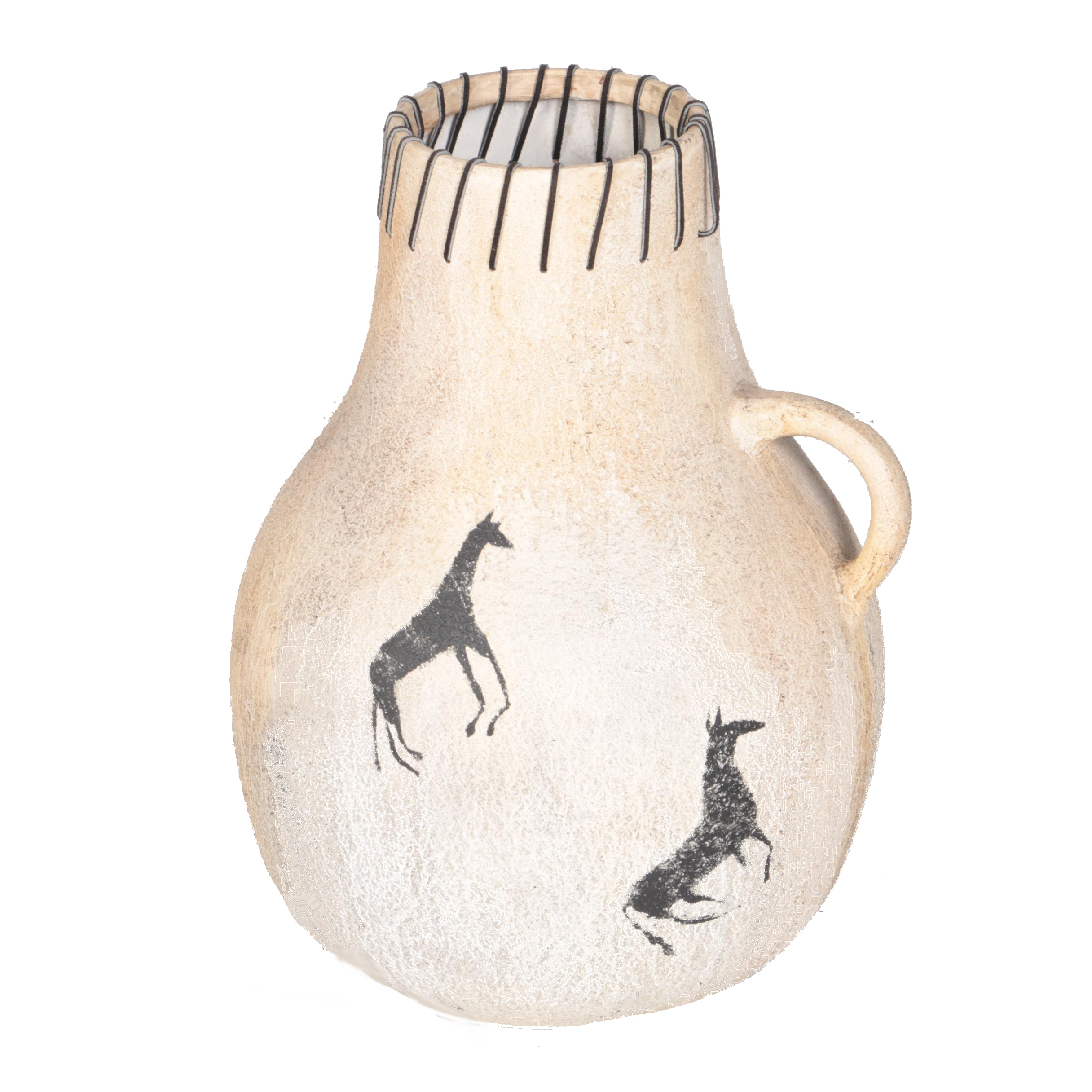 Native American Inspired Gourd Shaped Ceramic Vase by Guild Master