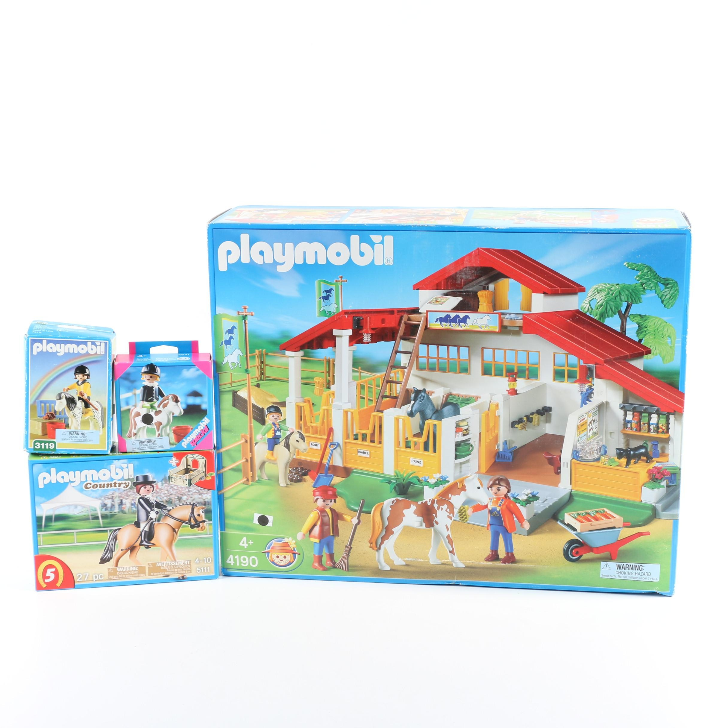 Playmobil Horse Themed Play Sets