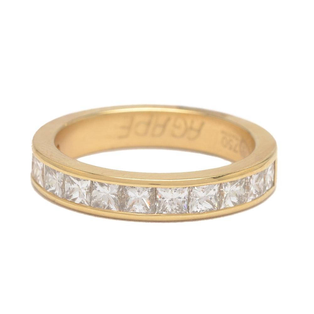 18K Yellow Gold Channel Set 1.20 CTW Diamond Ring