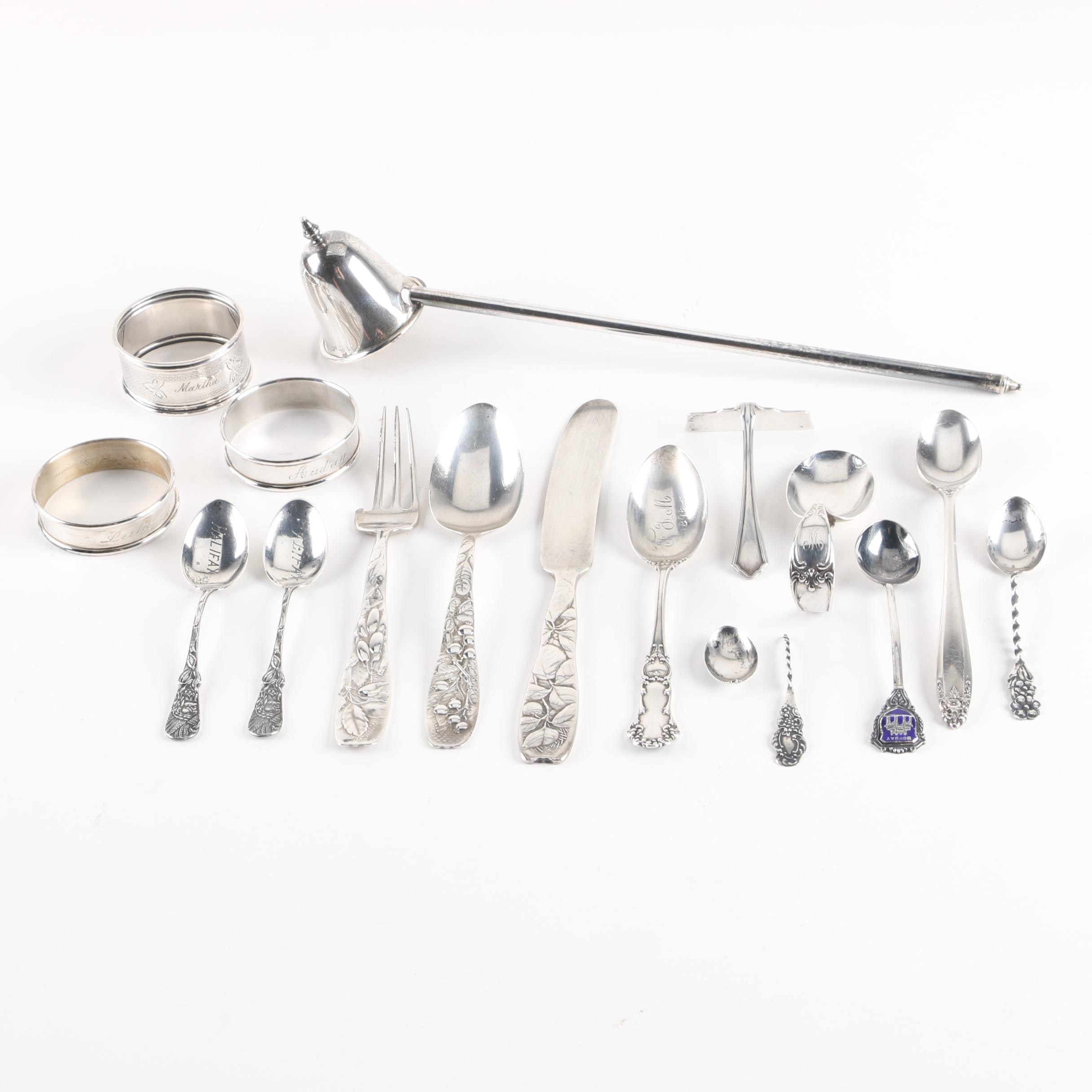 """Whiting Mfg. Co. """"Berry"""" Sterling Silver Flatware with Other Sterling"""