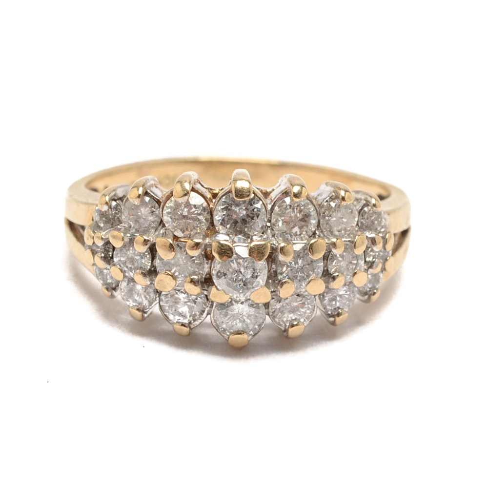 10K Yellow Gold 1.47 CTW Diamond Ring