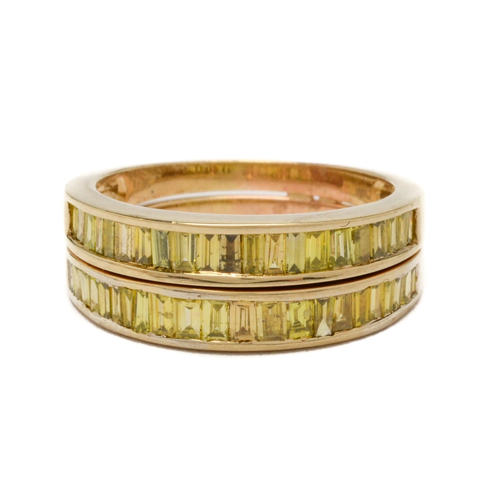 10K Yellow Gold 1.32 CTW Diamond Ring