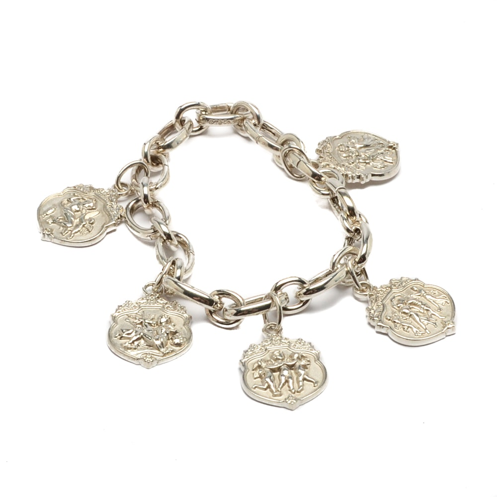 "Sterling Silver Tiffany & Co. ""Olympian"" Charm Bracelet"