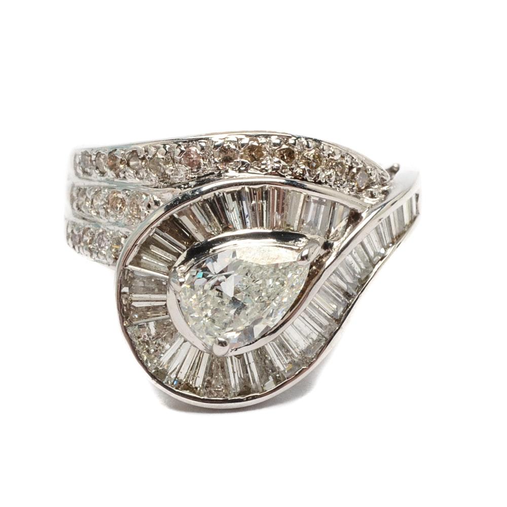 18K White Gold 2.23 CTW Diamond Ring