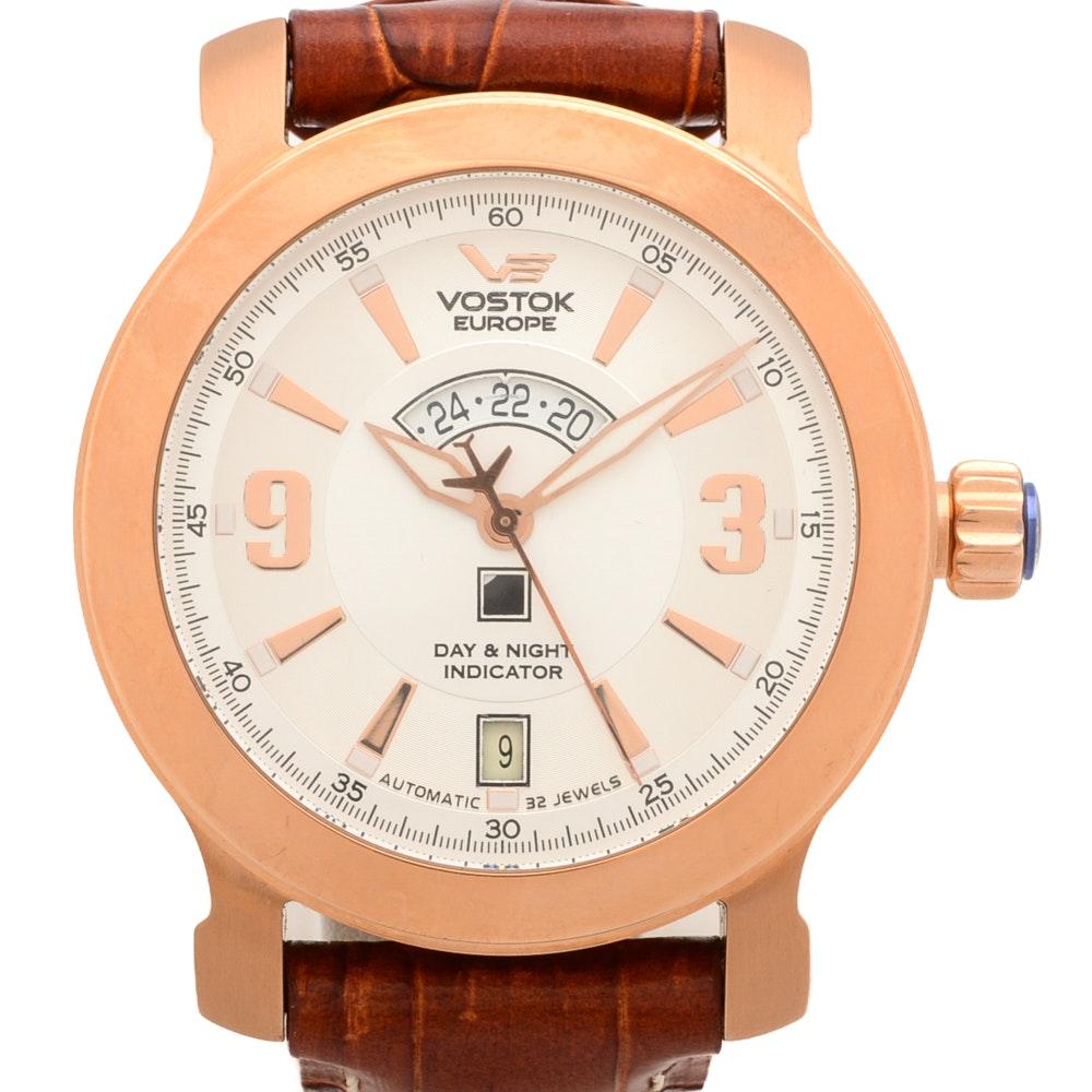 Vostok Europe Automatic Rose Gold Tone Wristwatch