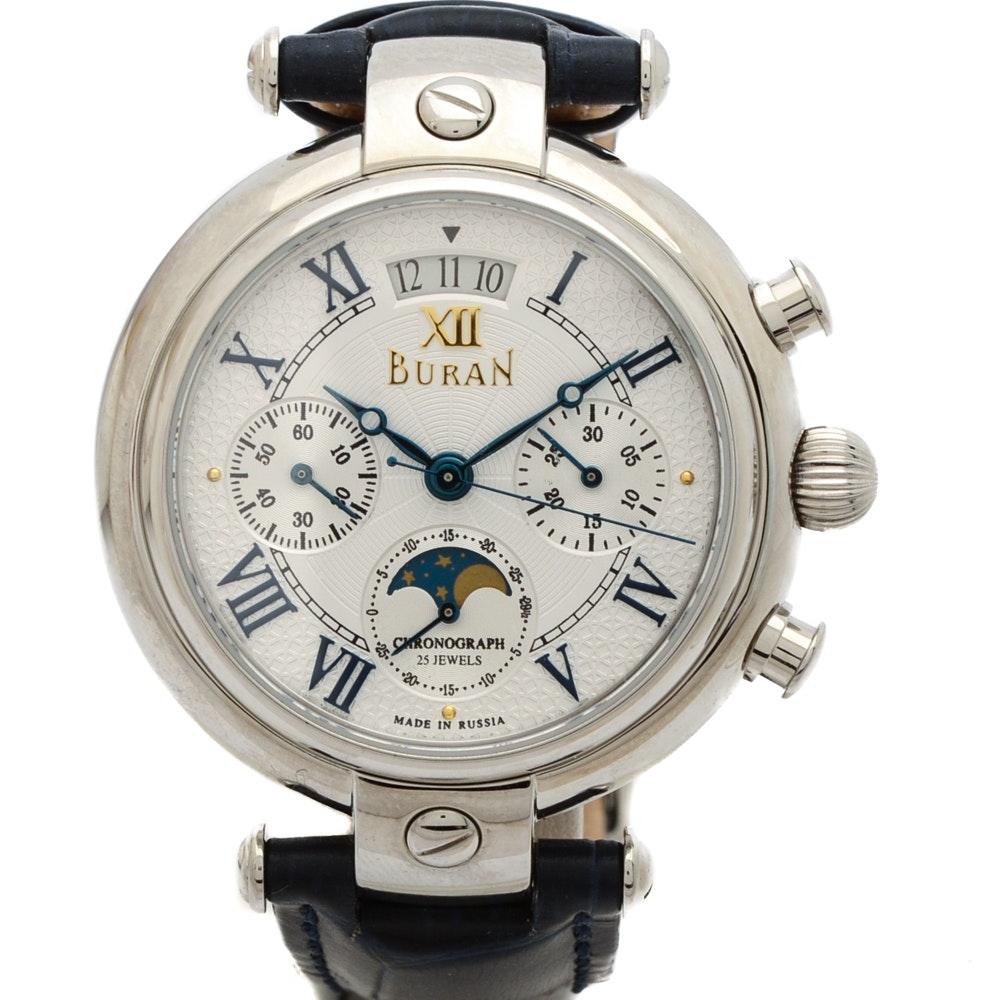 Stainless Steel Buran Chronograph Wristwatch