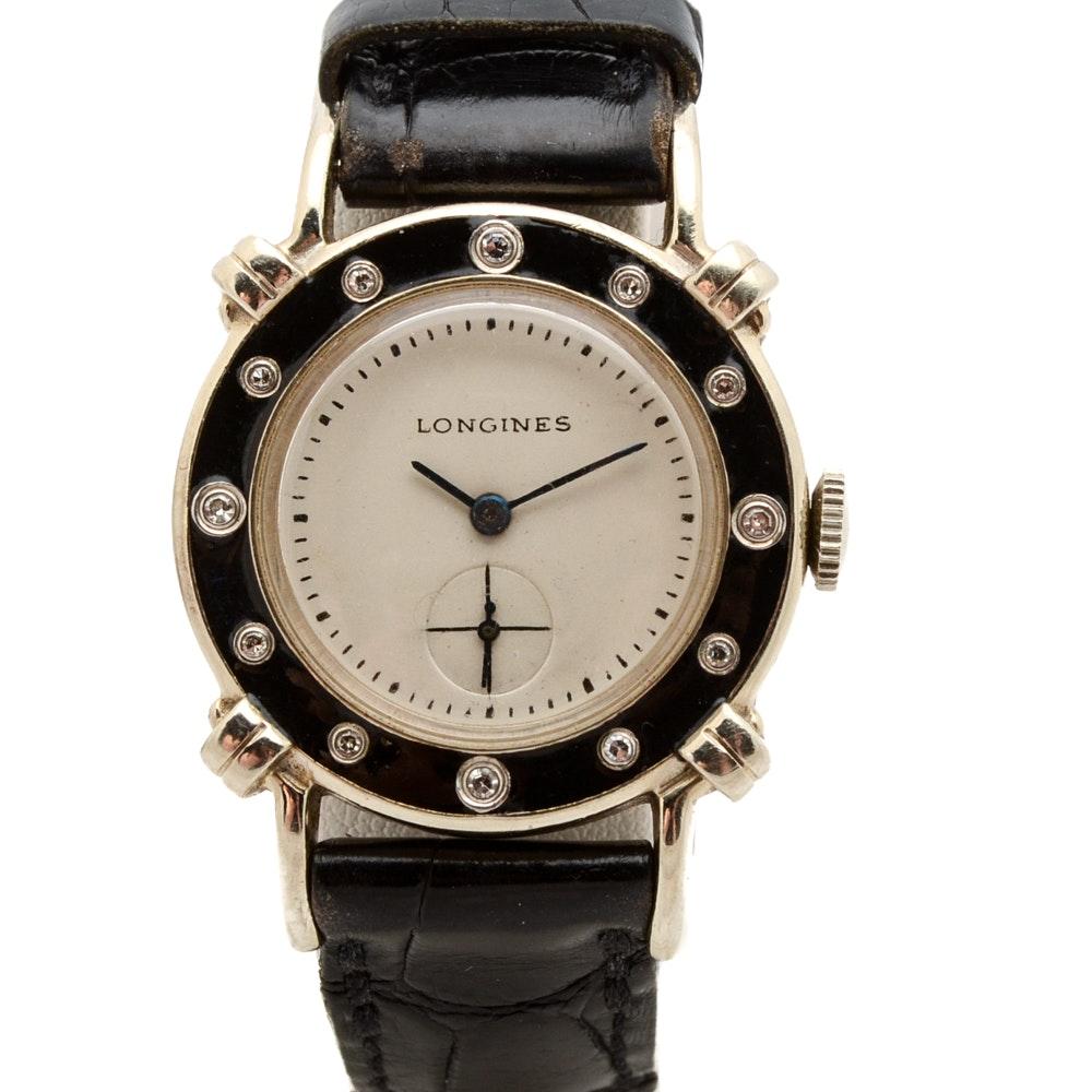 Longines 14K White Gold Diamond Wristwatch