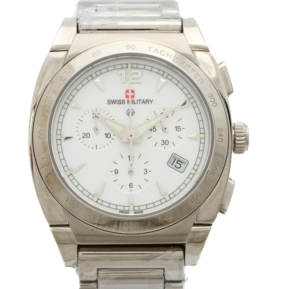 Swiss Military Stainless Steel Chronograph Wristwatch