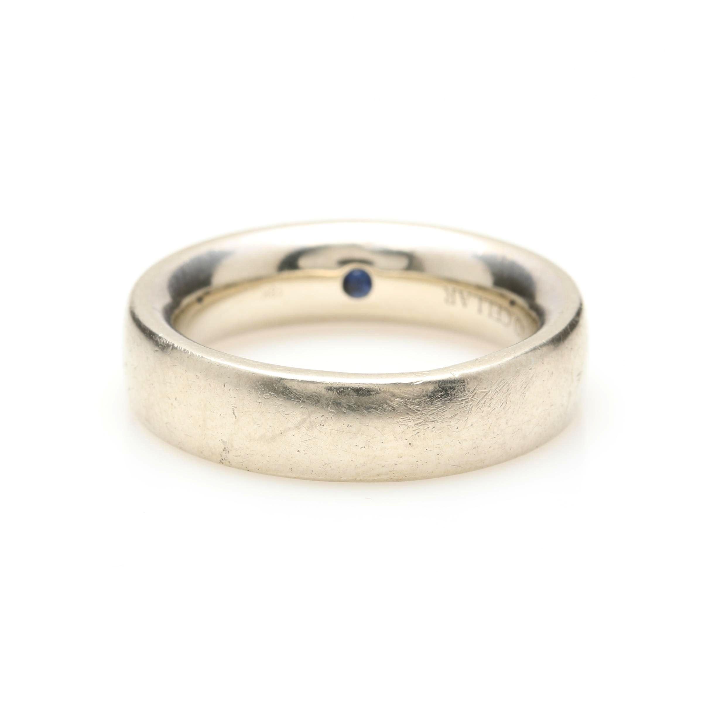 Diamond Cellar 18K White Gold Blue Sapphire Band