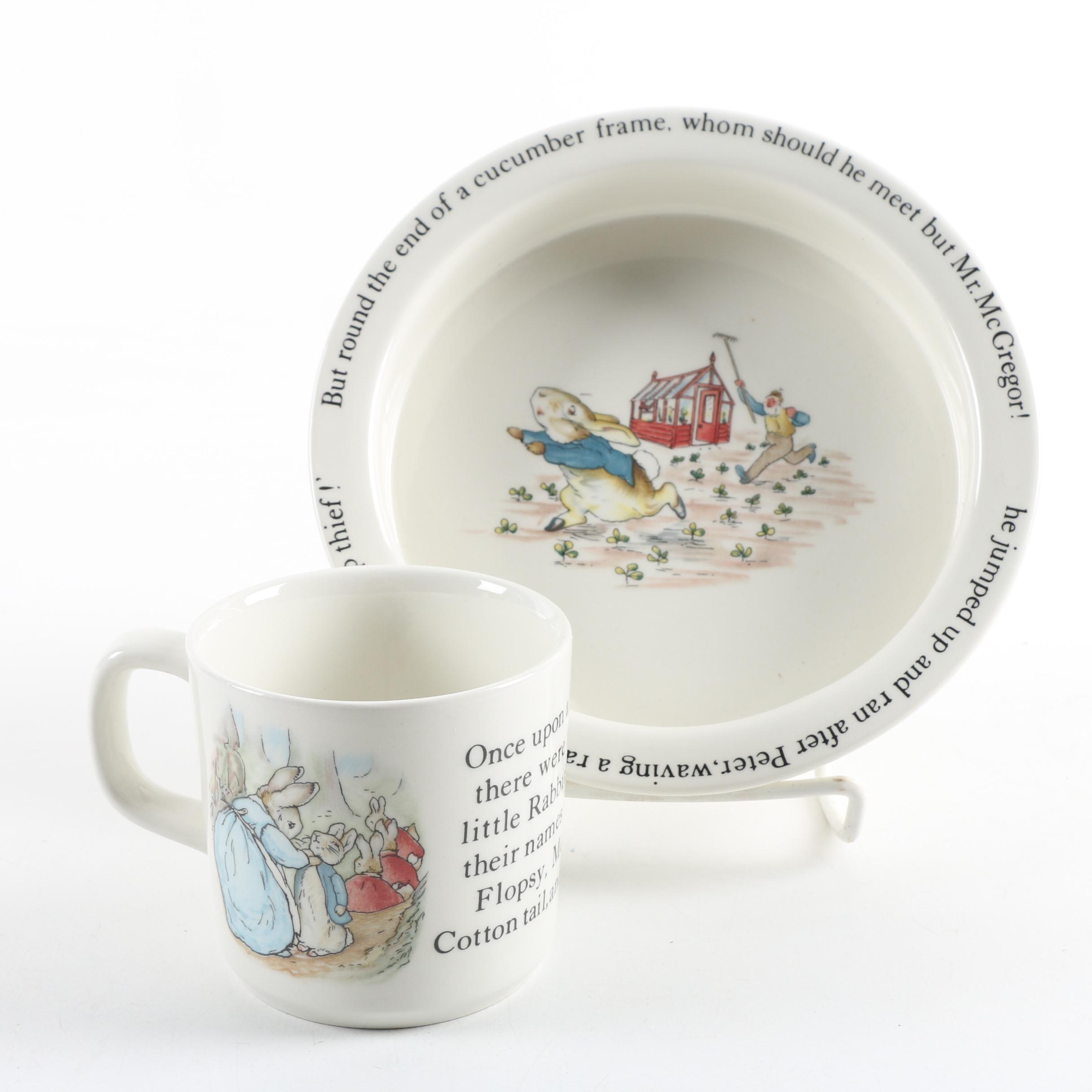 """Wedgwood """"Peter Rabbit"""" Plate and Mug"""