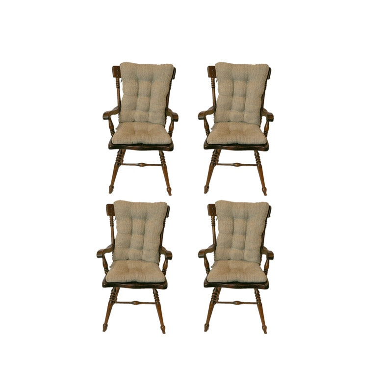 Four Vintage Arrowback Armchairs by Kling