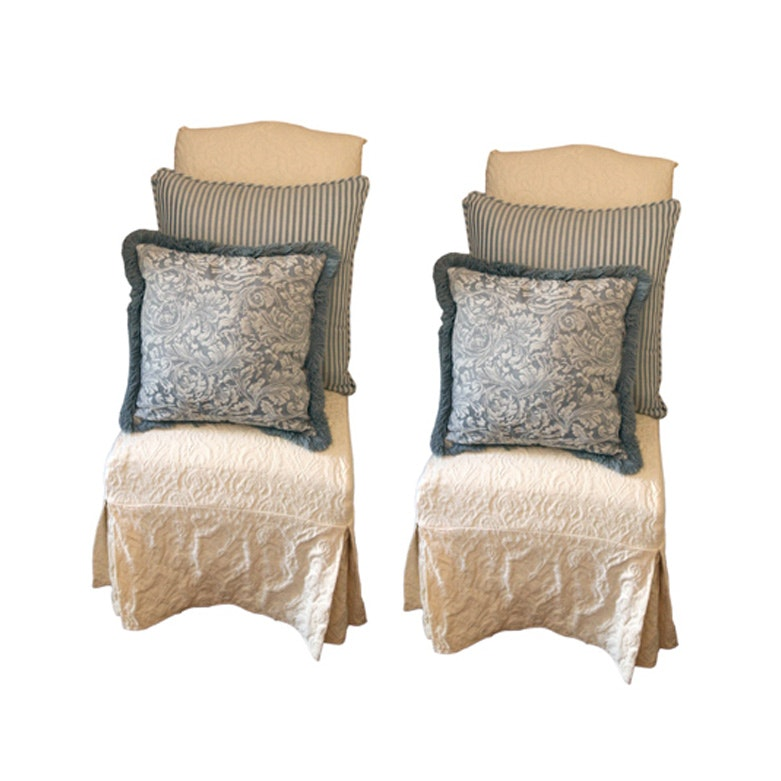 Upholstered Side Chairs with Slip Covers