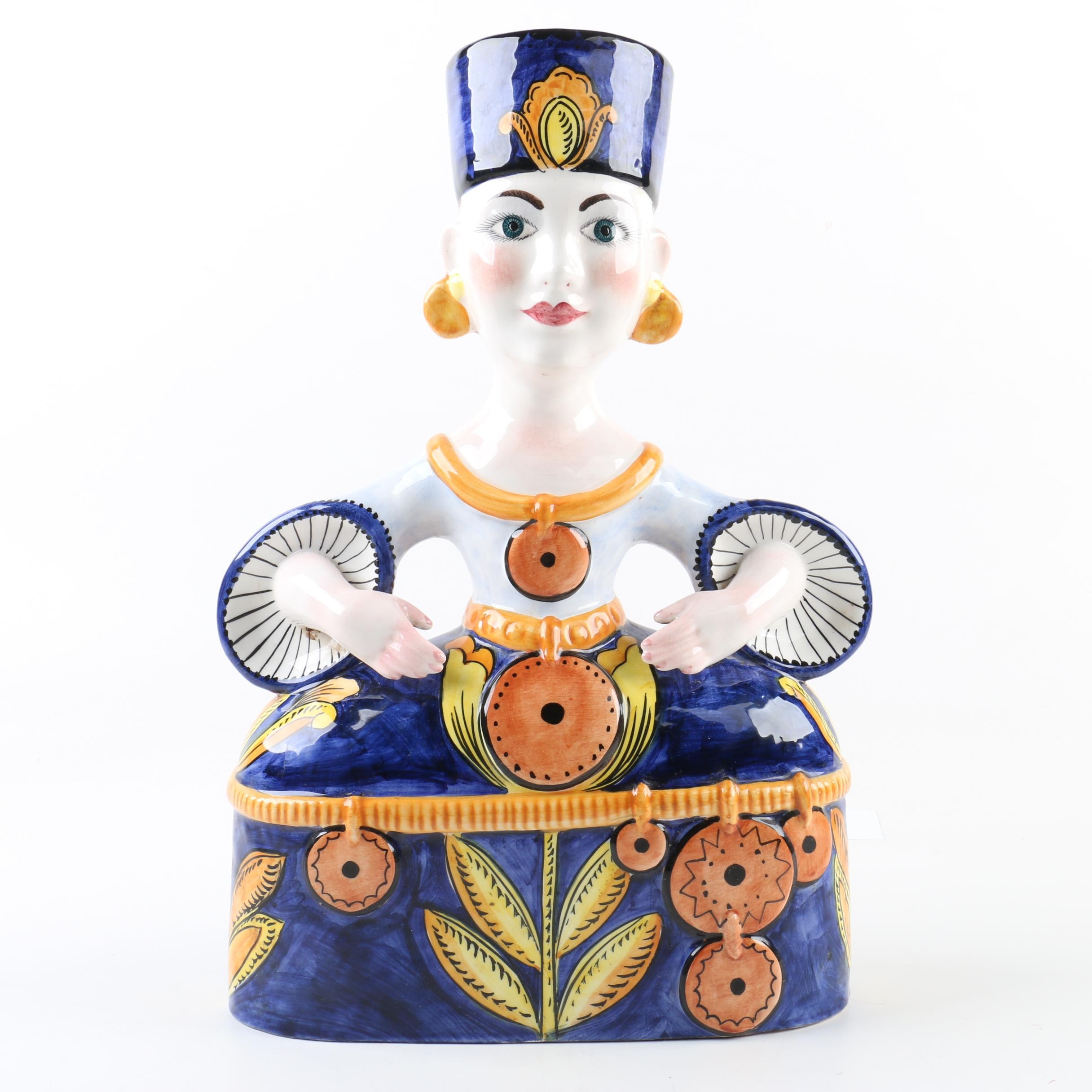 Hand-Painted Italian Ceramic Figurine
