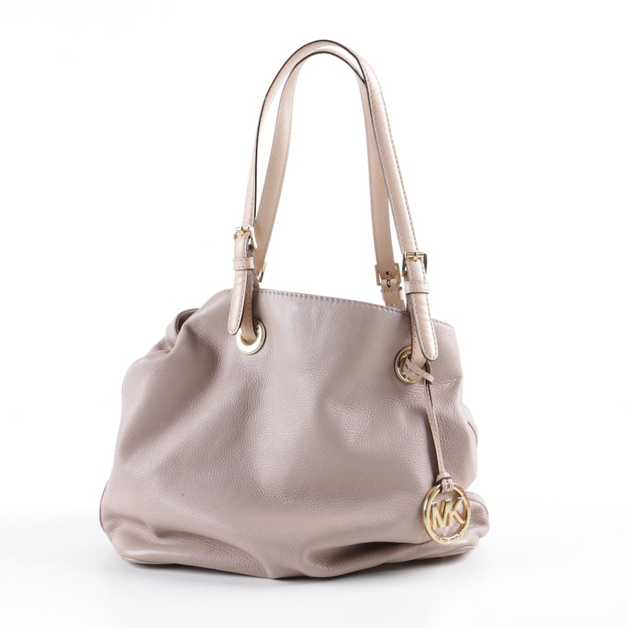 ab2d5147e2b3 MICHAEL Michael Kors Taupe Pebbled Leather Tote Bag : EBTH