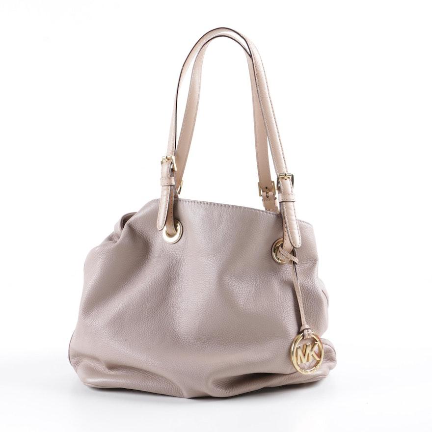 cc6db1b5d9e MICHAEL Michael Kors Taupe Pebbled Leather Tote Bag : EBTH