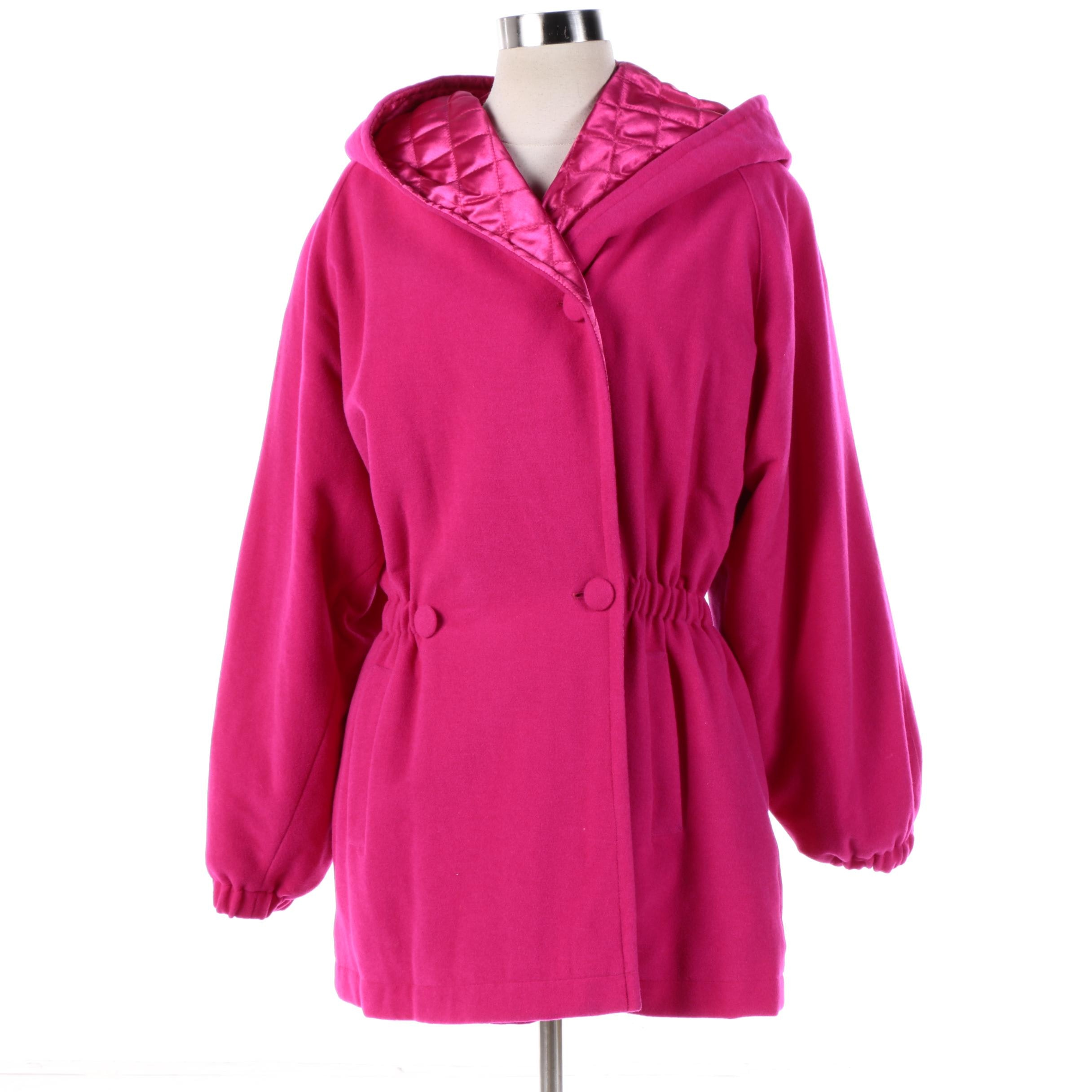 Women's Vintage Laurèl Pink Wool Blend Coat