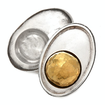 Pure Silver and 24K Yellow Gold Egg